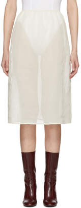Off-White Moderne Portrait Slip Skirt