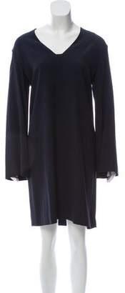 The Row Long-Sleeve Knee-Length Dress