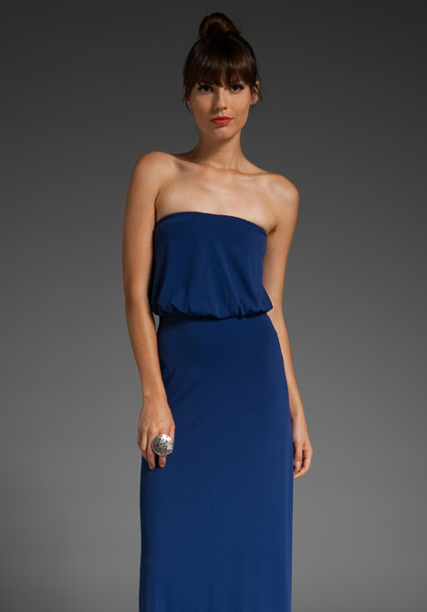 Susana Monaco Light Supplex Blouson Tube Maxi Dress