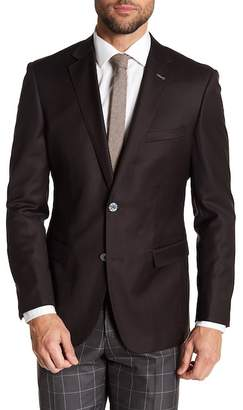 English Laundry Brown Two Button Notch Lapel Wool Suit Separates Jacket
