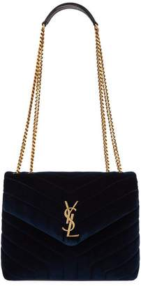 Saint Laurent Small Velvet Loulou Shoulder Bag