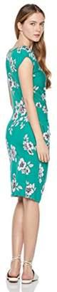 Painted Heart Women's Dolman Sleeve Side-Twisted Knit Midi Dress