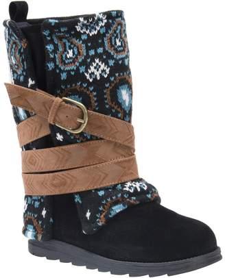 Muk Luks Mid Calf Boots - Nikki Print
