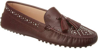 Tod's Gommino Embellished Tassel Leather Moccasin