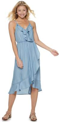 55dbe9e8206 Candies Juniors  Candie s Tencel Ruffle Maxi Dress