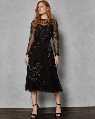 Ted Baker VELLO Embellished tulle midi dress