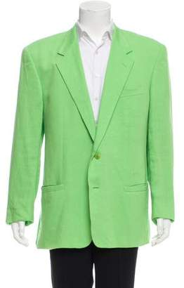 Gianni Versace Wool Two-Button Blazer