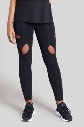 Cushnie Black Wren High Waist Cut-Out Knee Legging