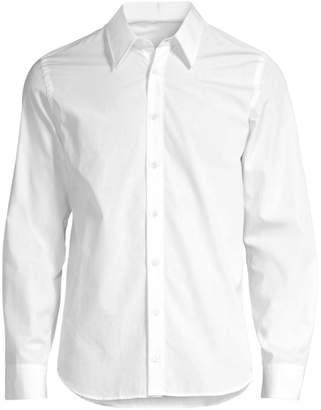 Helmut Lang Printed Long-Sleeve Button-Down Shirt