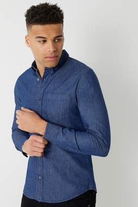 e2e9e96a855 Dark Wash Denim Shirt Mens - ShopStyle UK