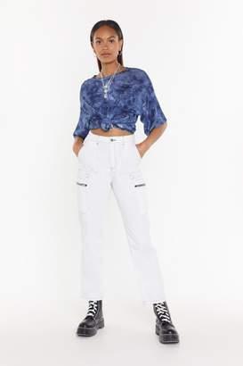 Nasty Gal Zip Detail Cargo Jeans