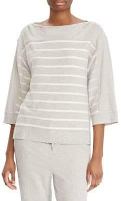 Lauren Ralph Lauren Petite Striped Boatneck Sweater