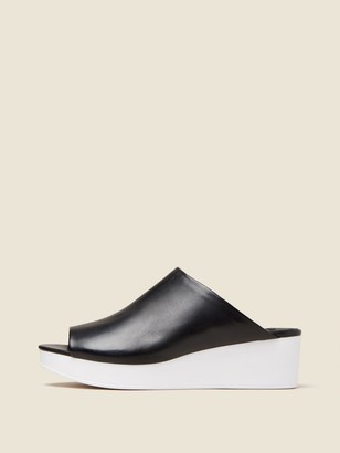 DKNY Reisley Leather Wedge Mule