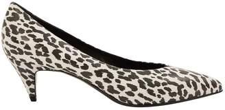 Saint Laurent White Leather Heels
