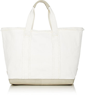 Barneys New York Women's Frayed Tote $195 thestylecure.com