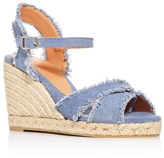 Castaner Women's Bromelia Crisscross Platform Wedge Espadrille Sandals