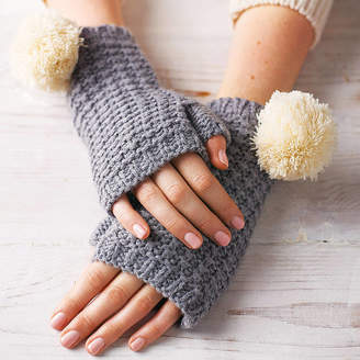 Lowie Pom Pom Fingerless Gloves