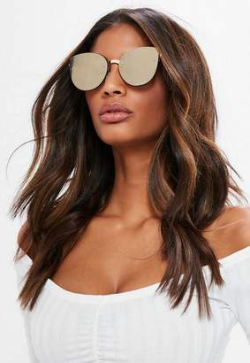 Missguided Brown Cat Eye Sunglasses
