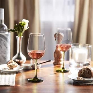 Libbey Vina Olive Stemmed Wine Glasses, Set of 6