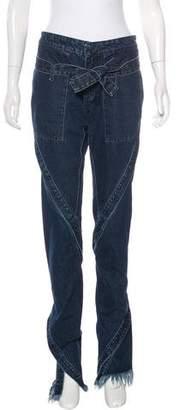 Marques Almeida Marques'Almeida Paneled Straight-Leg Jeans w/ Tags