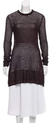 Proenza Schouler Long Sleeve Open Knit Mini Dress w/ Tags