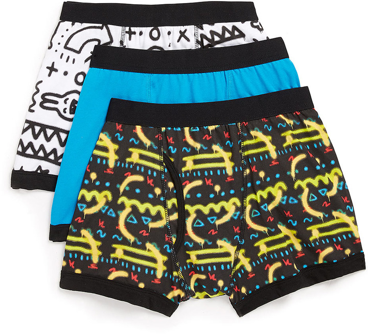 Topman Graffiti 3 Pack Underwear