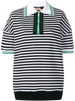 No.21 striped polo shirt