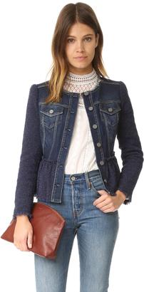Rebecca Taylor Stretch Tweed Denim Jacket $495 thestylecure.com
