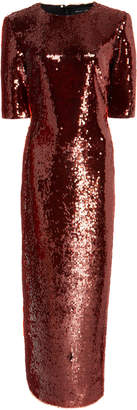 Sally LaPointe Sequined Maxi Dress