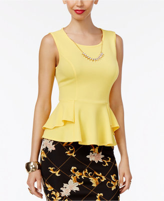Thalia Sodi Textured Peplum Necklace Top, Only at Macy's $49.50 thestylecure.com