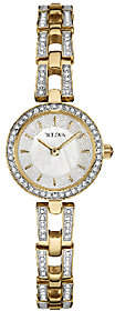 Bulova Women's Goldtone/Silvertone Crystal Bracelet Watch $299 thestylecure.com