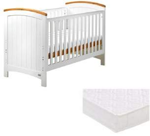 East Coast Nursery East Coast Coast Cot Bed With Pocket Sprung Mattress - Sailcloth/ivory