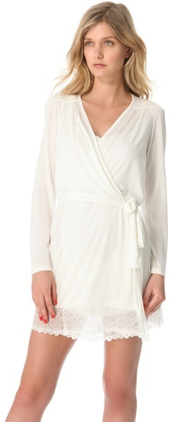 Only Hearts Club Venice Short Robe with Lace