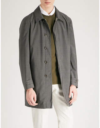 Canali Travel wool and shell reversible raincoat