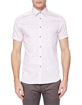 Ted Baker Ss Geometric Coupe Shirt