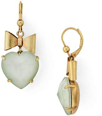 Tory Burch Bow & Heart Drop Earrings