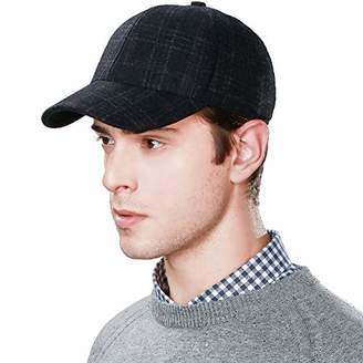 Jeff & Aimy Mens Winter Wool Baseball Sports Cap Cold Weather Running Outdoor Hunting Trucker Cadet Combat Military Army Corps Hat Navy Blue
