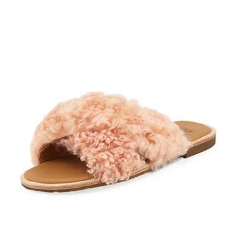 UGG Joni Flat Sheepskin Slide Sandal
