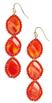 Women's Panacea Crystal Linear Drop Earrings $26 thestylecure.com