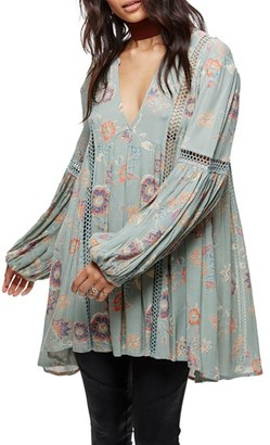 Women's Free People Just The Two Of Us Floral Tunic $118 thestylecure.com