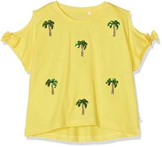 Name It Girl's Nkfjonja Ss Short Top Box T-Shirt, Primrose Yellow, (Size: -152)