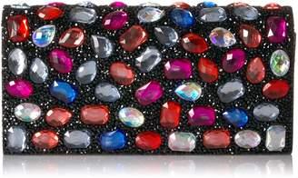 Jessica McClintock Chloe Jeweled Clutch Evening Bag