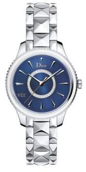 Christian Dior VIII Montaigne Diamond, Mother-Of-Pearl& Two-Tone Stainless Steel Bracelet Watch