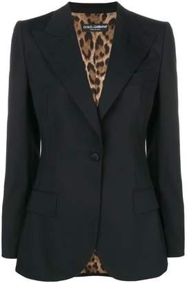Dolce & Gabbana fitted longline blazer