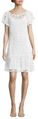 Polo Ralph Lauren Ruffled Lace Dress $298 thestylecure.com