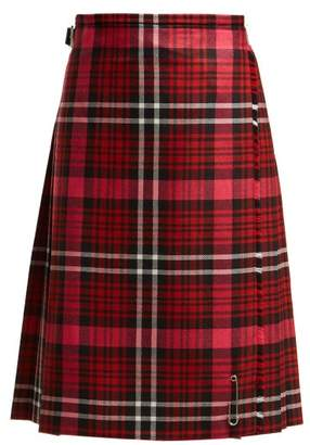 Le kilt Le Kilt - Pleated Tartan Wool Kilt Skirt - Womens - Red Multi