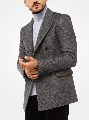 Michael Kors Herringbone Stretch-Wool Blazer