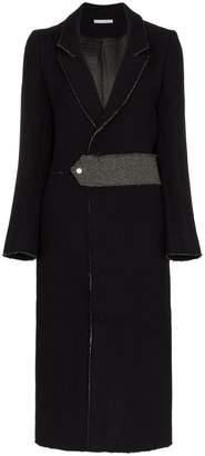 Lot 78 Lot78 raw edge back split wool blend coat