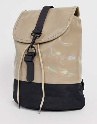 Rains holographic drawstring backpack