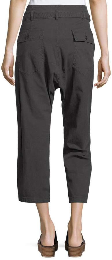 The Great The Convertible Twill Cropped Trouser